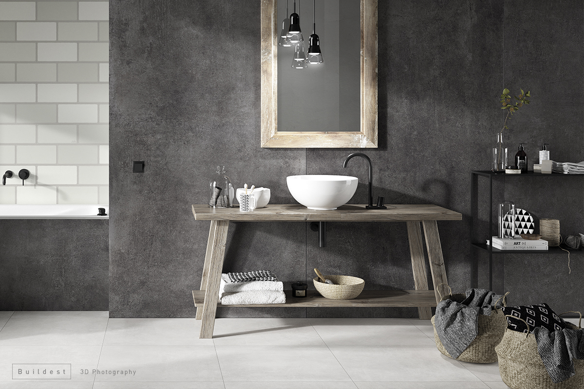 Buildest_Contemporary bathroom_3d_rendering_modena