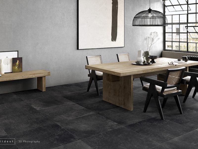 Buildest_grey dining set_3d_rendering_modena